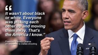 弔辞を述べたオバマ大統領は「黒人、白人の区別はなかった。みんながお互い助け会って避難しようとしていた。それが私にとってのアメリカだ」と述べた