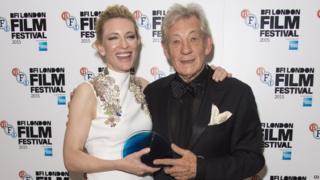 Cate Blanchett and Sir Ian McKellen