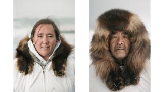 Bernadette Adams and Inupiat elder Foster Simmonds has been a whaler since he was a child.