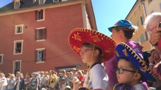 Asistentes a las Fiestas Latino- Mexicanas en Barcelonnette