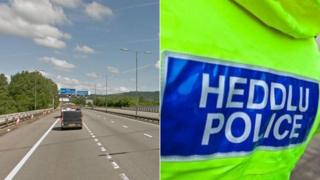 Junction 43 on the M4 and police generic pic