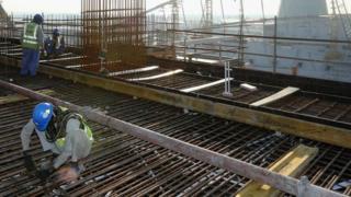 أعمال البناء في البنية التحتية لاستضافة كأس العالم 2022