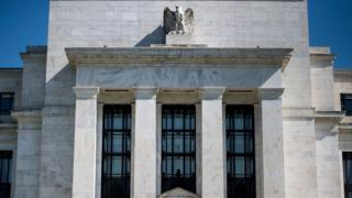 This file photo taken on May 2, 2018 shows a view of the Federal Reserve in Washington, DC