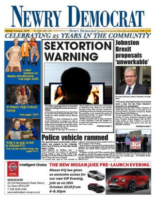 Newry Democrat front page