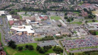 Aerial view of Royal Shrewsbury Hospital