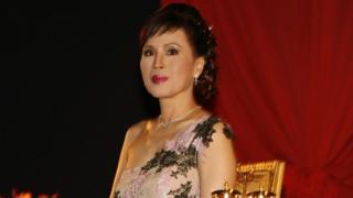 Princess Ubol Ratana presents the 2008 Golden Kinaree awards at the Bangkok international film festival in Bangkok