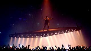 Kanye West on the Saint Pablo tour