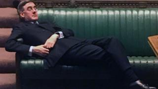 Brexit: Slouching Jacob Rees-Mogg lampooned in memes