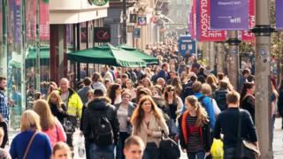 Pedestrians in Glasgow city centre