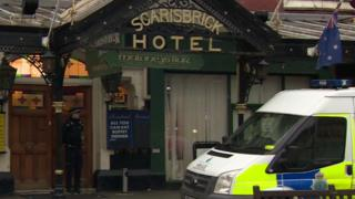 Policeman outside Scarisbrick Hotel on Lord Street