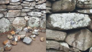 Vandalism at Clava Cairns burial site