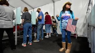 Voters line up to vote