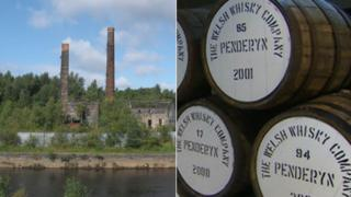 afod Morfa Copperworks and casks of Penderyn whiskey