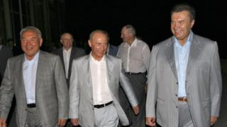 Назарбаев, Путин, Лукашенко и Виктор Янукович