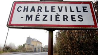 Road sign of Charleville-Mezieres. File photo