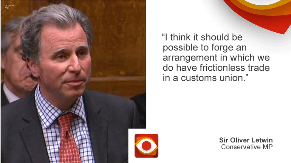 Sir Oliver Letwin saying: I think it should be possible to forge an arrangement in which we do have frictionless trade in a customs union.