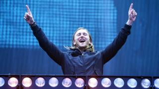 Picture shows David Guetta performing on the Main Stage for Radio 1