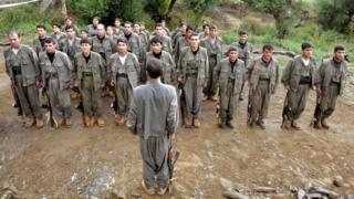 Irak'ın Hakurk dağındaki PKK kampı