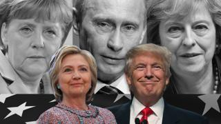Clinton and Trump and world leaders