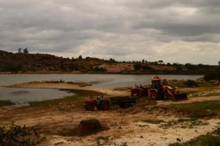 Lake in Melkote village in Mandya district