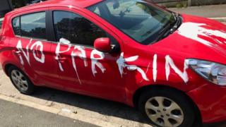 Vandalised car