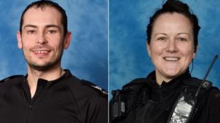 Sgt Mark Allmond and PC Alex Quigley