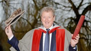 Roy Hodgson getting an honorary degree
