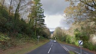 The A470 near Dinas Mawddwy