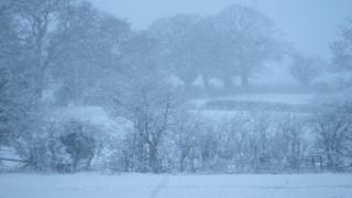 Heavy snow in No Man's Heath