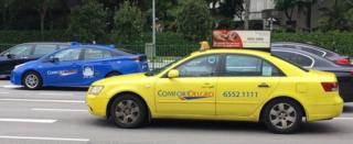 Taxis and cars in Singapore