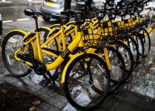 велосипеды Ofo в Лондоне