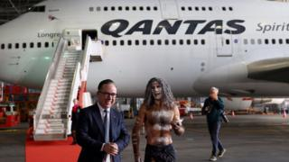 Alan Joyce, Chief Executive Officer of Qantas, and an indigenous Australian