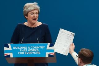 Theresa May handed a P45 form
