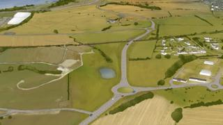 Artist's impression of planned new road