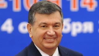 Uzbekistan's prime minister and acting president, Shavkat Mirziyoyev
