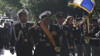 Yunan Genelkurmay Başkanı Apostolakis (ortada)