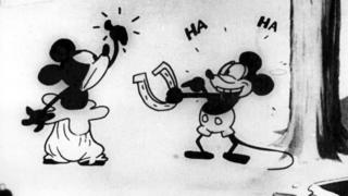 Mickey in first cartoon made.