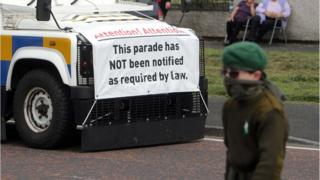 The parade took place in the Kilwilkie area of Lurgan on Saturday afternoon