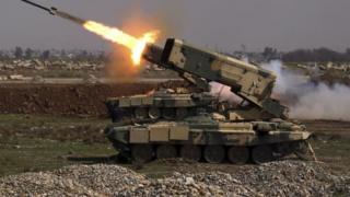 راکتانداز نیروهای عراقی