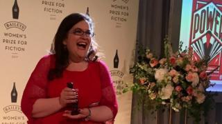 Naomi Alderman with her prize