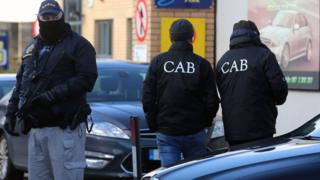 The Criminal Assets Bureau (CAB) is co-ordinating the search operation in Dublin