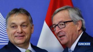 Macaristan hükümetinin hazırladığı afiş