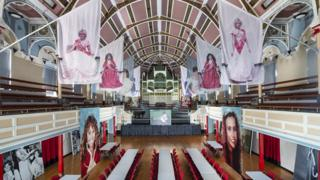 The photos on display at West Bromwich town hall