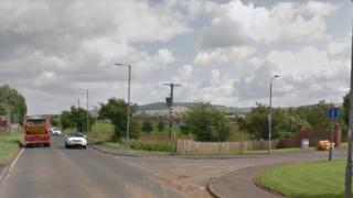 A71, near to Barrwood Gate, Galston