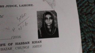 Picture of Zeenat Rafiq wearing a head covering as shown on her wedding certificate