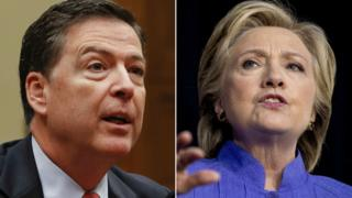 Foto James Comey dan Hillary Clinton