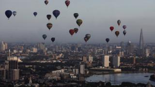 Balloon over London