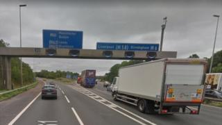 The junction where the M61 meets the M6