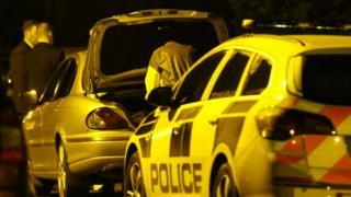 Forensic officers at Limehurst Way, Lisburn