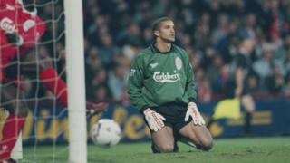 David James in goal for Liverpool
